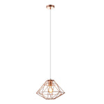 Cilla Copper Diamond Wire Shade Pendant Light - Lighting.co.za