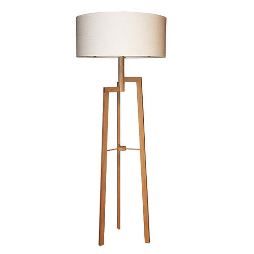 MANOR OAK WOOD FLOOR LAMP SET - Lighting.co.za