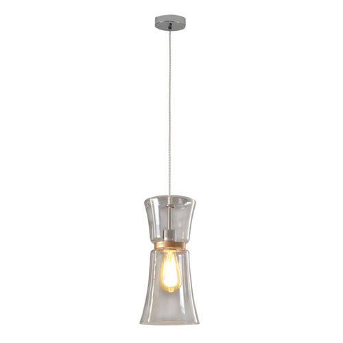 Fulton Clear Or Blue Smoke Glass Pendant Light - Lighting.co.za