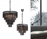 Grace Small Black Or Gold K9 Crystal 3 Tier Chandelier - Lighting.co.za