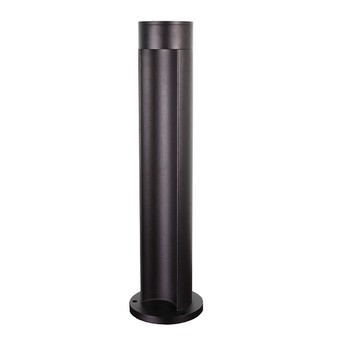 Lago Black 7W COB LED Round Outdoor Bollard Light - Lighting.co.za