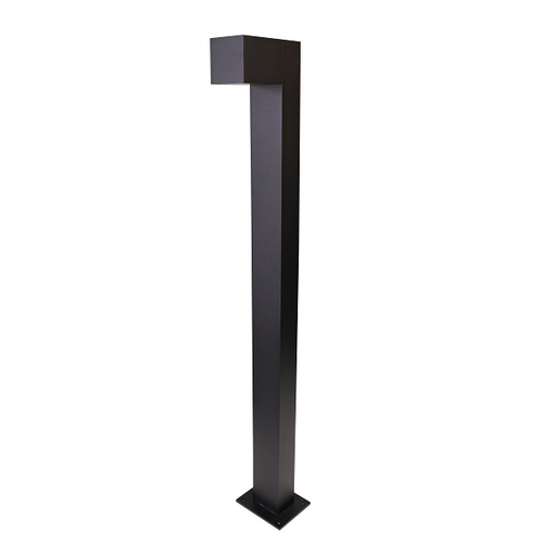 Melito Black 7 Watt LED Square Outdoor Bollard Light - Lighting.co.za