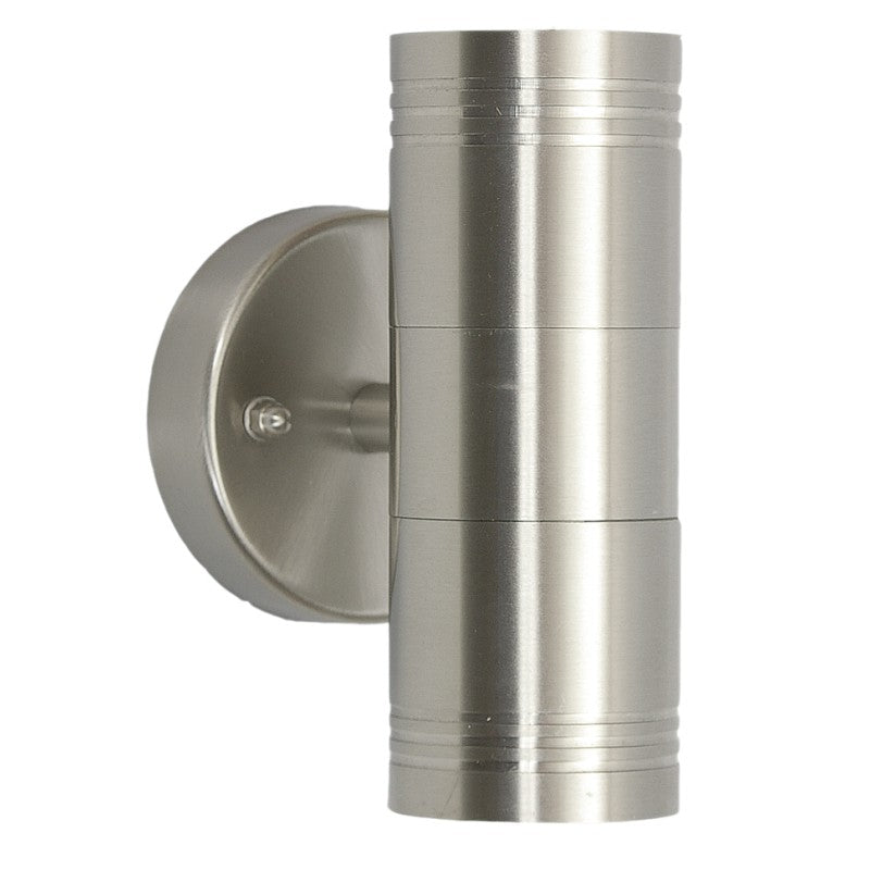 GENOA STAINLESS STEEL GU10 UP DOWN WALL LIGHT - Lighting.co.za