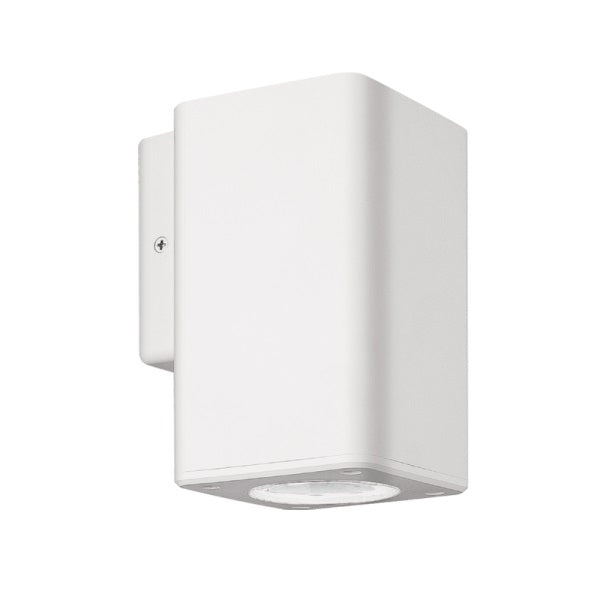 FLORIS SQUARE ABS GU10 DOWN FACING OUTDOOR WALL LIGHT - Lighting.co.za