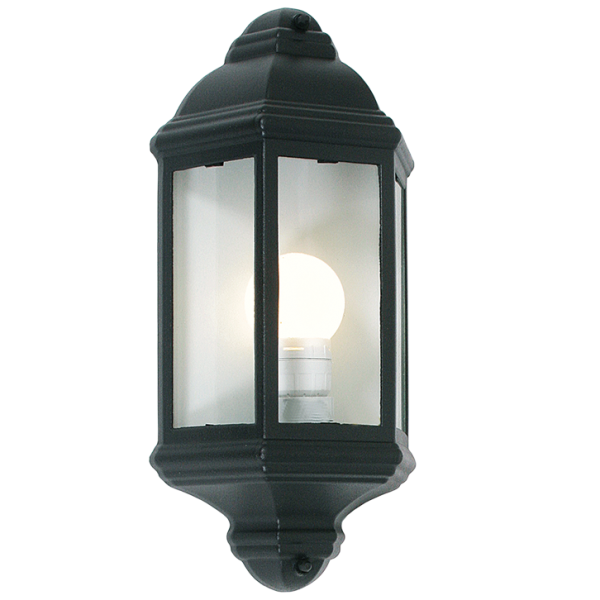 OUTDOOR HALF LANTERN 3 PANEL WALL LIGHT - Lighting.co.za