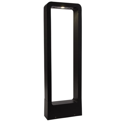 Lane Black 7 Watt LED Outdoor Bollard Light - Lighting.co.za