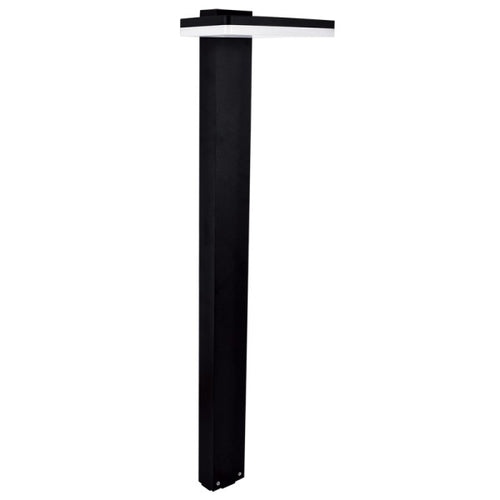 Temma Black 12W LED Outdoor Bollard Light - Lighting.co.za