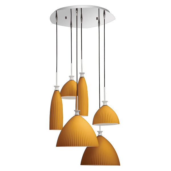 Forge Classic Glass Pendant Light 3 Cluster Options - Lighting.co.za