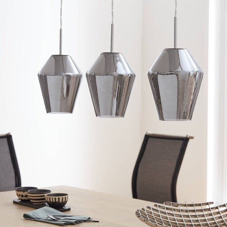 Murmillo Smoke Glass and Chrome Pendant Light - Lighting.co.za
