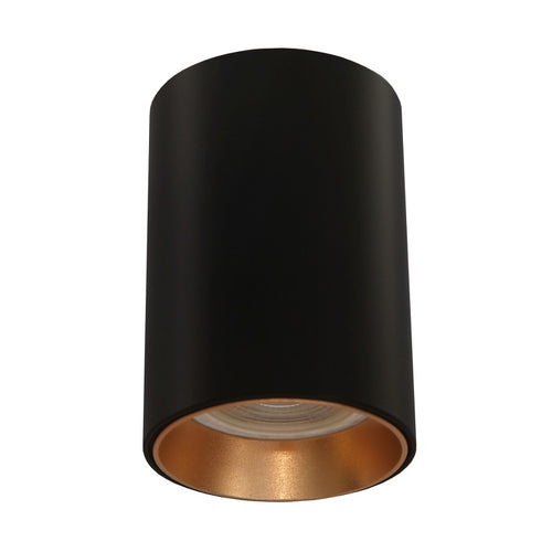 Baril Black Fixed Round GU10 Surface Mounted Down Light 3 Options - Lighting.co.za