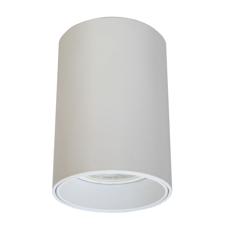 Baril White Fixed Round GU10 Surface Mounted Down Light 3 Options - Lighting.co.za