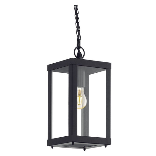 Alamonte Outdoor Black and Clear Glass Pendant Light - Lighting.co.za