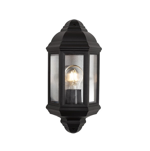 POLY CARBONATE OUTDOOR HALF LANTERN WALL LIGHT