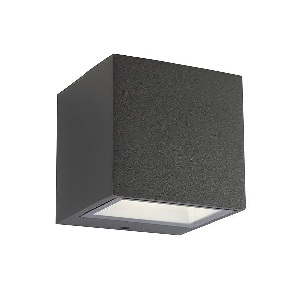 Gemini 9 Watt LED Grey Cube Outdoor Wall Light - Lighting.co.za