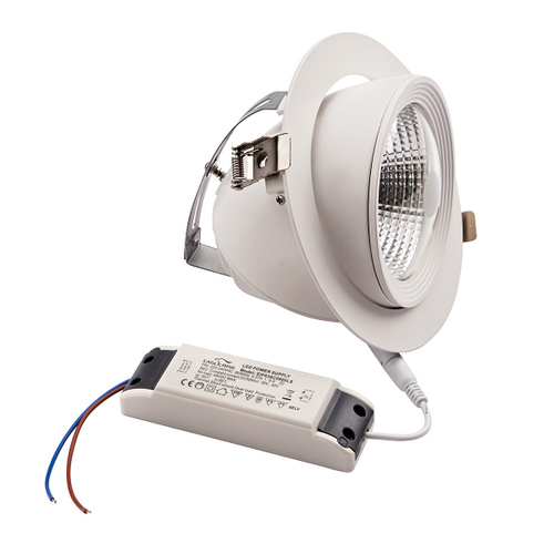 Eva COB 35W LED Tilt 4000K Non-Dim Downlight - Lighting.co.za
