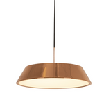 RONDO LED CHROME OR ROSE GOLD PENDANT 2 SIZES - Lighting.co.za
