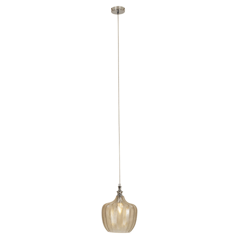 Cafè Smoke Or Amber Glass Pendant Light - Lighting.co.za