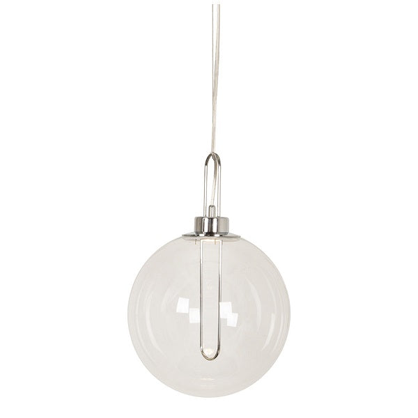 Elisio Classic Gold Or Chrome And Clear Glass LED Pendant Light - Lighting.co.za
