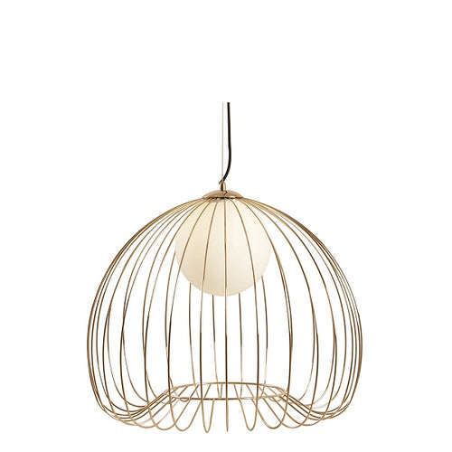Memory Black Or Gold Cage Wire Pendant Light 3 Sizes - Lighting.co.za