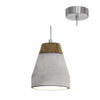 Tarega Concrete And Wood Pendant Light - Lighting.co.za