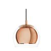 Rocomar Copper And Clear Glass Pendant Light - Lighting.co.za