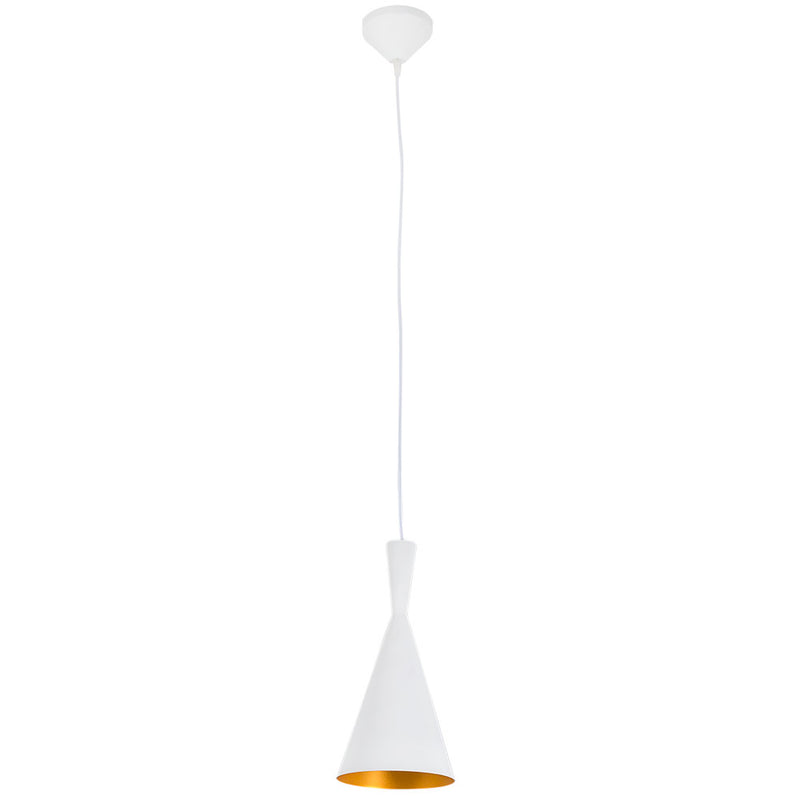 Vortex Industria White Gold Pendant Light 2 Sizes - Lighting.co.za