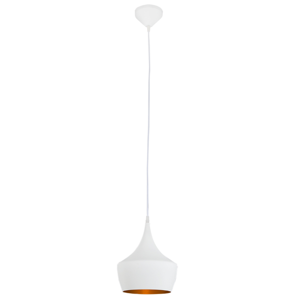 Vortex Industria White Gold Round Pendant Light - Lighting.co.za