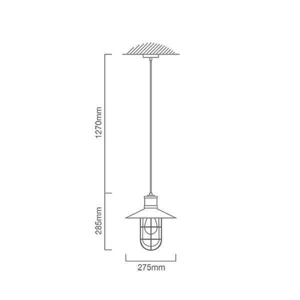 Clark Cage Black Industrial Pendant Light - Lighting.co.za