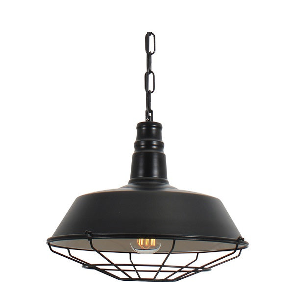 Kirby Cage Black Industrial Pendant Light - Lighting.co.za