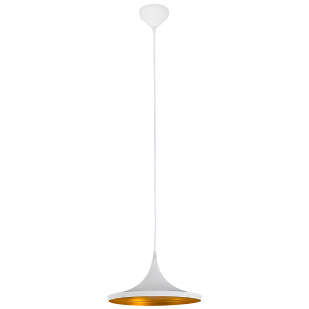 Vortex Hat Black Or White And Gold Solo Pendant Light - Lighting.co.za