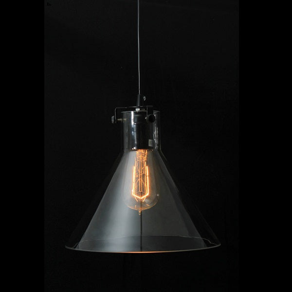 Funnello Clear Glass And Black Pendant Light - Lighting.co.za