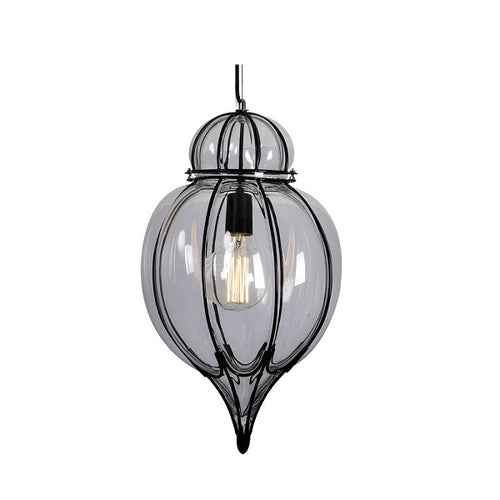 Clove Black And Smoke Glass Moroccan Lantern Pendant Light - Lighting.co.za