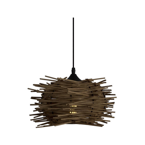 Avi Nest Brown Natural Wood Pendant Light - Lighting.co.za