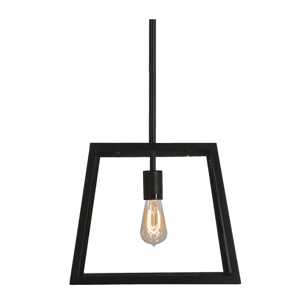 VINO BLACK AND CLEAR GLASS PENDANT WITH ROD P608