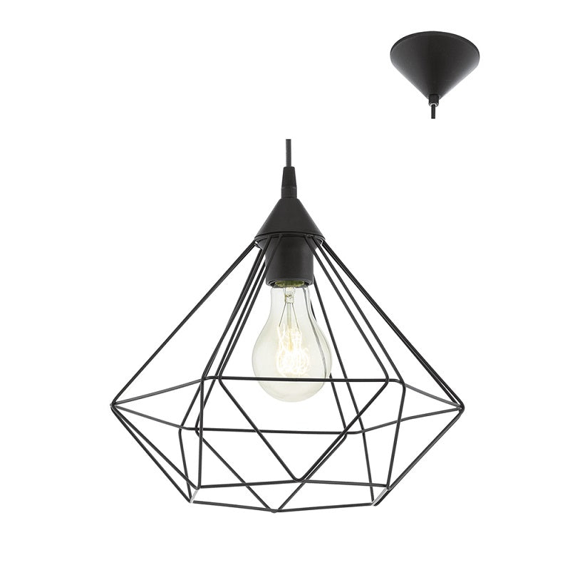 Tarbes Medium Black | Copper Diamond Wire Pendant Light - Lighting.co.za