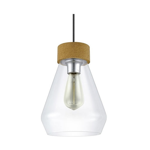 Brixham Clear Glass And Cork Pendant Light - Lighting.co.za