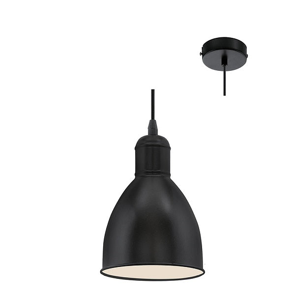 Priddy Black Single Pendant Light - Lighting.co.za