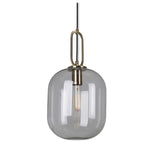 Hallstat Clear Or White Glass And Brass Pendant Light 3 Sizes - Lighting.co.za