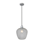 Oslo Facet Clear Or White Glass Pendant Light 2 Sizes - Lighting.co.za