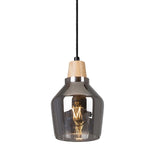 Tallinn Small Wood And Glass Pendant Light - Lighting.co.za