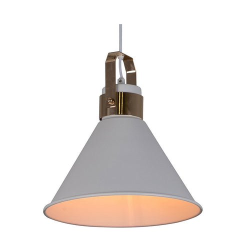 Monroe Funnel White and Gold Pendant Light - Lighting.co.za