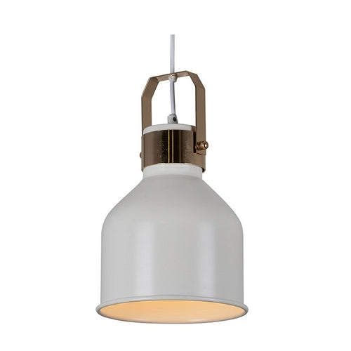 Monroe Small White and Gold Pendant Light - Lighting.co.za