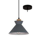 CHARLOTTE NORDIC WOOD AND STEEL 250 PENDANT