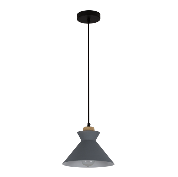 CHARLOTTE NORDIC WOOD AND STEEL 250 PENDANT - Lighting.co.za