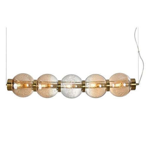 Pearl Horizontal 5 Light Amber | Smoke Glass Pendant Light - Lighting.co.za