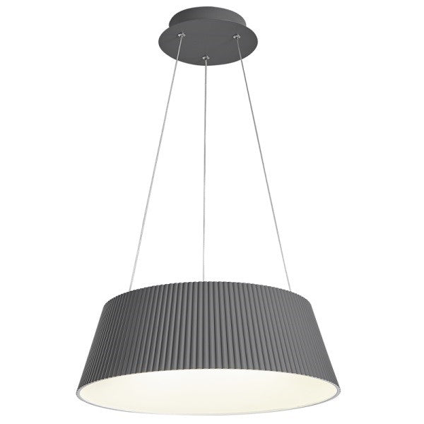 Gilles Ribbed Grey Or White 45W LED Pendant Light With CCT Adjustable Remote - Lighting.co.za