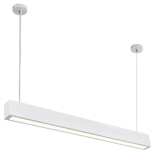 Lynx Slim 12W LED White Rectangle Pendant Light - Lighting.co.za