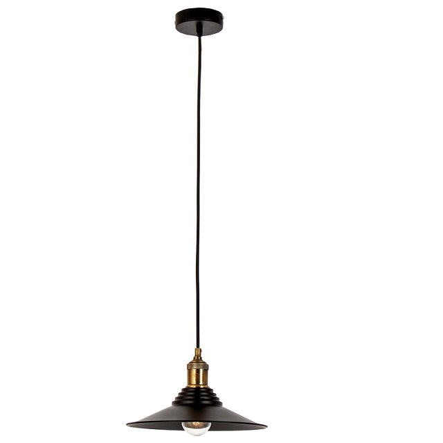 Romo Matt Black Vintage Pendant Light - Lighting.co.za
