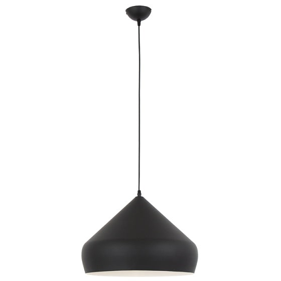 NORDIC 400 PLAIN BLACK PENDANT - Lighting.co.za