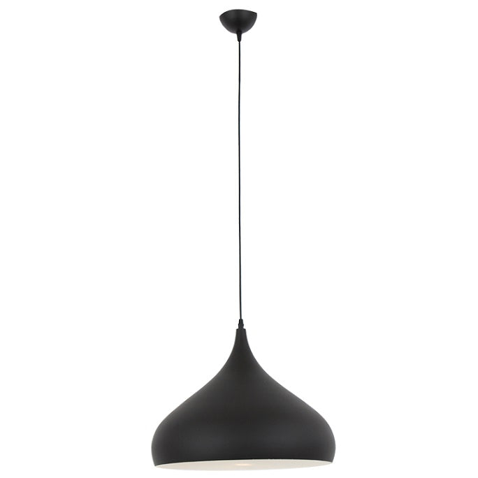 Nordic 420 Plain Black Pendant Light - Lighting.co.za